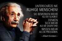 Albert Einstein Spruch 49 Blechschild Schild gewölbt Tin Sign 20 x 30 cm R0773