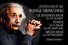 Albert Einstein Spruch 49 Blechschild Schild gewölbt Metal Tin Sign 20 x 30 cm