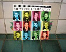 NSYNC 2002 CELEBRITY TOUR PROGRAM (JUSTIN TIMBERLAKE) + PROMO PICTURES