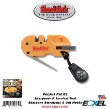 Smith's #50364 Pocket Pal X2 Sharpener & Survival Tool, LED, Fire Starter