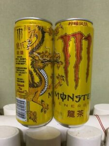 """New China Version Monster Energy """"Dragon Tea"""" Empty Can"""