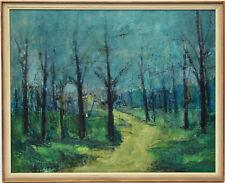 Manfred Bittermann Ölgemälde Leinwand sign 1965 Landschaft Bäume Wald 53 x 43 cm