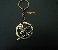 The Hunger Games Mockingjay Bird Key Ring Chain Vintage Retro Bronze Gold Plated
