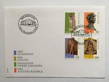 Enveloppe FDC timbres suisses CH1533/36,Zum CH914/917 de 1997. Art gallo-romain