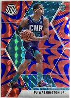 2019-20 Panini Prizm Mosaic Pj Washington Jr. Rookie Card RC Blue Reactive 📈🔥