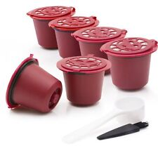 BRBHOM 6 Stainless Steel Mesh Refillable Reusable Nespresso Coffee Capsules Pods