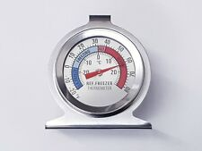 Stainless Steel Dial Fridge/Freezer Thermometer - Stands & Hangs