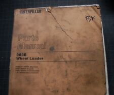 Cat Caterpillar 988b Wheel Loader Parts Manual Book 50w Catalog Front End Spare