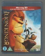 THE LION KING - 3D AND 2D - Disney - UK 3D BLU-RAY - (2-DISC SET) - vgc