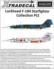 Xtra Decals 1/48 LOCKHEED F-104 STARFIGHTER COLLECTION Part 2