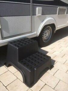 Trittstufe Doppeltrittstufe Einstiegshilfe Stufe f. Caravan Wohnwagen Wohnmobil