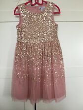 Primark Girls Pink Sequin Net Dress Age 6-7