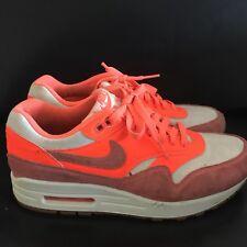 Da Donna Nike Air Max 1 vintage VELA/Bright Mango/suola di gomma UK6 * deve vedere *