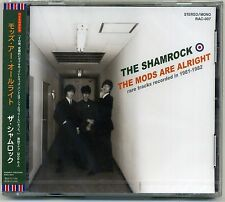 The Shamrock - The Mods Are Alright CD 1st PRESS RARE TRACKS 1981-82 Badge Japan