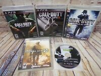 PS3 Call Of Duty Lot of 5 - Black Ops II - World At War - Modern Warfare 2 & 3