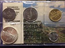 """*161* SAN MARINO - Divisionale Zecca anno 1987 """"XV ripresa monetaz. S.M."""" FDC"""