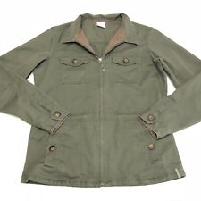 Columbia Army Green Utility Military Jacket Lightweight Cotton Women's Medium
