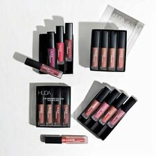 New Brand HUDA BEAUTY Matte Mini Liquid Lipstick Set 4 pcs -5 Shade UK Seller