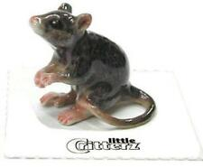 "Little Critterz Miniature Porcelain Animal Figure Rat ""Snoop"" LC710"