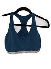 CALVIN KLEIN  Bra / Bralette Logo Top Blue Size Large