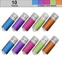 4GB 10 Pack Memory Drives USB-Stick 2.0 Storage Thumb Rectangle Flash Disk Pen