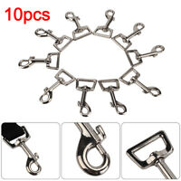 Dog Lead Clips Heavy Duty Pack of 10 25mm 1 inch Square Eye Snap Trigger Hooks