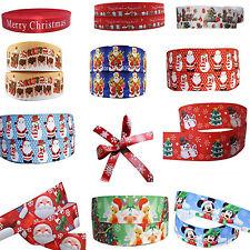 Christmas Cake Cartoon Grosgrain Red Glitter Ribbon For Cakes, Gift Wrap, Bows