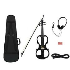 4/4 Wood Maple Electric Violin Fiddle Stringed Instrument with Ebony D3R8