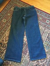 Vintage 70s Mens Denim Jeans Western Wear Label Scovill Zipper 38x36