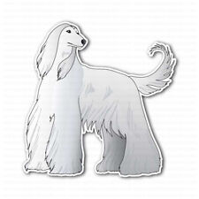 White Afghan Hound Dog Sticker