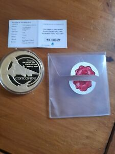Windsor Mint Concorde First Flight Commemorative coin #00969 RRP £99.95.