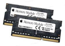 """ 2X8GB 16GB BARETTES DE MEMOIRE RAM POUR MACBOOK PRO 13"""" 15"""" DE 2012"""