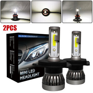 2x Car SUV Truck RV 6000K H4 9003 HB2 LED Headlight 1200W 6000LM Hi/Lo Beam Bulb