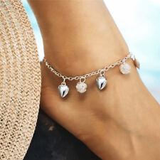 "Boho Heart Beads Barefoot Sandal Chain Anklet Ankle Bracelet Beach Foot Jewelry"""