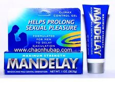MANDELAY MAXIMUM STRENGTH CLIMAX CONTROL PROLONG DESENSITIZER DELAY MALE GEL