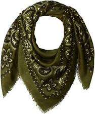 New Steve Madden Women's Bandana Print Square Day Wrap Olive One Size
