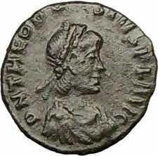 THEODOSIUS I the Great 379AD Ancient Roman Coin Wreath i17327