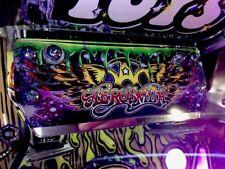 Aerosmith Pinball Toybox ledge Mirrored Background With Logo