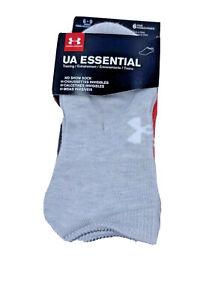 Under Armour 6 pair UA essentials no show heather assortment women size 6-9
