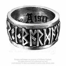 Viking Runeband pewter ring. Alchemy Gothic, Celtic, Viking, Norse :Size T: