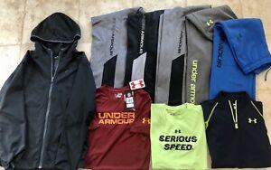 Lot 9 Boys YXL/YL UNDER ARMOUR Pants / Shirts /  Athletic Apparel size YXL/L