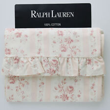 Ralph Lauren Pink Floral Twin Ruffled Flat Sheet