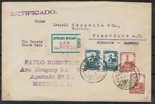 Mexiko  R Brief ab Mexiko City 1924 über Laredo + New York nach Frankfurt / Main