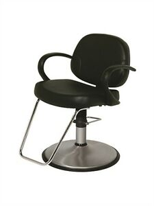 Belvedere Riva All Purpose Modern Salon Styling Chair With Brushed Chrome Base
