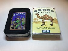 JOE CAMEL MOON & MOTORCYCLE WTC NYC ZIPPO Advertising LIGHTER MINT IN BOX 1997