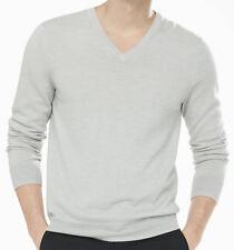 NWT 【S】【$70】 New EXPRESS Men's Pure Merino Wool V-Neck Sweater, Lightweight