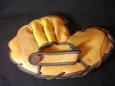 Old Vtg Antique Kids Children's Leather Right Hand Baseball Glove Made In Japan