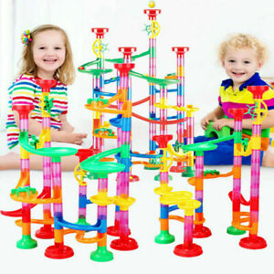 Kids Deluxe Marble Run Race Game Play Toys Building Blocks Colorful Fun Gift UK
