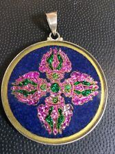 "$62 Dorje Vajara Sanskrit Lapis Gemstone 1.5"" Pendant Necklace #power #resolute"