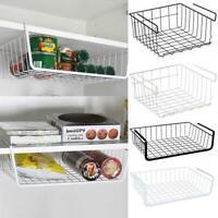 Home Storage Shelf Basket Holder Basket Kitchen Hanger Rack Cabinet Organizer